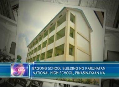 Bagong school building ng Karuhatan National High School, pinasinayaan na