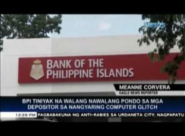 BPI assures clients: no missing fund after computer glitch; system not hacked