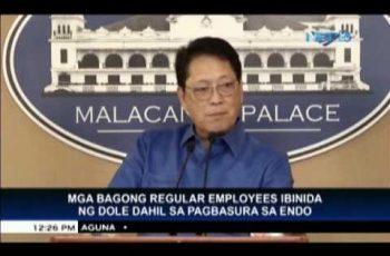 DOLE:  60,000 employees now on regular status