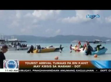 DOT: Tourist arrivals still rising despite Marawi crisis