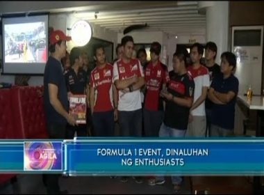 Formula 1 event, dinaluhan ng enthusiasts
