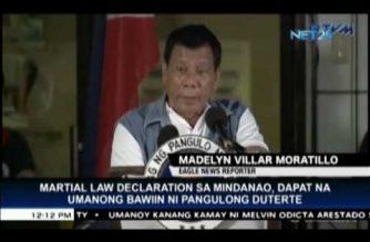 Gabriela presses lifting of martial law