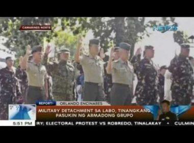 Military detachment sa Labo, Camarines Norte tinangkang pasukin ng armadong grupo