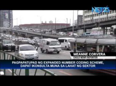 MMDA urged to consult affected sectors before implementing expanded coding scheme