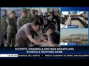 """President Duterte in """"excellent health,"""" just needs some rest, says Palace"""
