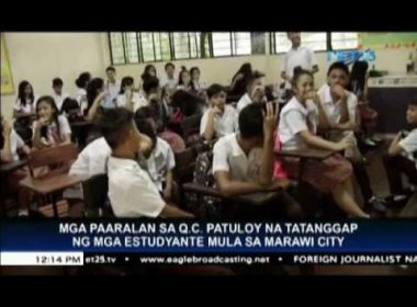 QC schools to continue receiving displaced students from Marawi City