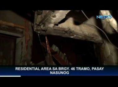 Residential area sa Brgy 46 tramo Pasay City,  nasunog