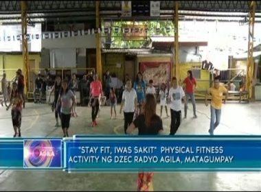 """Stay fit, iwas sakit"" physical fitness activity ng DZEC Radyo Agila, matagumpay"