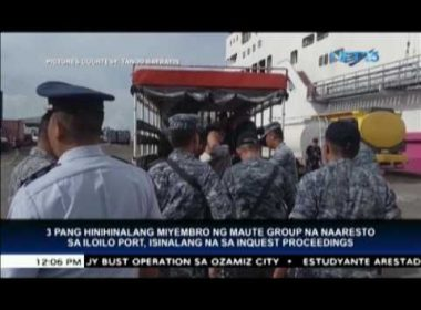Three arrested Maute members in Iloilo undergo inquest proceedings in Cagayan de Oro
