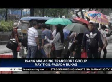 Transport group to hold transport strike on Friday, June 2
