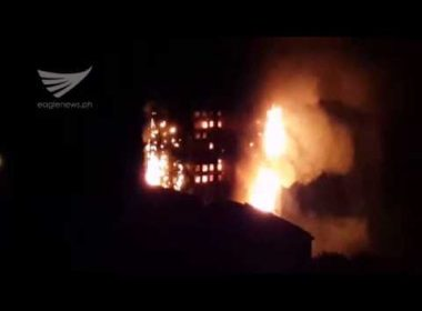 Video:  London tower fire as of 2:43 a.m. (June 14) as seen from afar