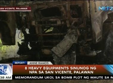 Palawan heavy equipment sinunog ng NPA