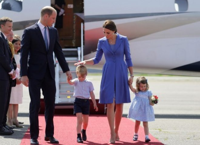 News in photo:  Britain's Prince William, his wife Kate and their children on 3-day visit in Germany