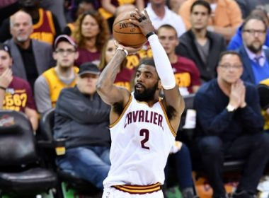 CLEVELAND, OH - MAY 23: Kyrie Irving #2 of the Cleveland Cavaliers shoots for three in the first quarter against the Boston Celtics during Game Four of the 2017 NBA Eastern Conference Finals at Quicken Loans Arena on May 23, 2017 in Cleveland, Ohio. NOTE TO USER: User expressly acknowledges and agrees that, by downloading and or using this photograph, User is consenting to the terms and conditions of the Getty Images License Agreement.   Jason Miller/Getty Images/AFP