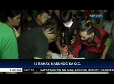 12 bahay sa Quezon City, nasunog; mahigit P200,000 na halaga ng ari-arian, natupok