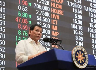 President Rodrigo Duterte, in his speech during the 10th listing anniversary of the Phoenix Petroleum Philippines, Inc. (PNX) at the Philippine Stock Exchange in Makati City on July 11, 2017, reiterates his stance against corruption as he urges the public to report erring government officials.