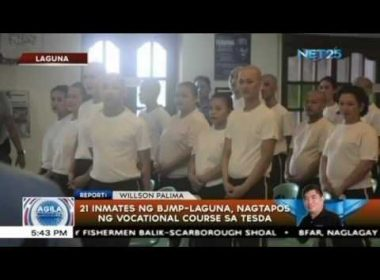 21 inmates sa Laguna, matagumpay na nagsipagtapos ng vocational courses sa TESDA