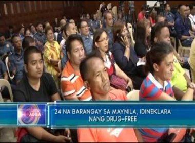 24 na barangay sa Maynila, idineklara nang drug-free