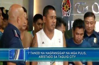 1 PCP commander, 6 na tanod, arestado dahil sa pangingikil sa Taguig City