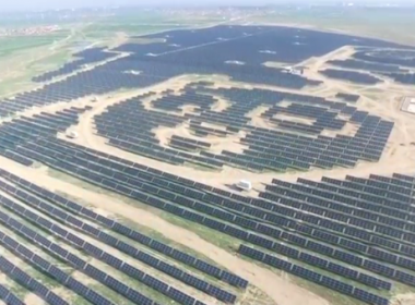In a country where anything from chopsticks to slippers can be designed to look like pandas, one Chinese energy company is going a step further by building 100 solar farms shaped like the bears along the route of the ambitious Belt and Road initiative.(photo grabbed from Reuters video)