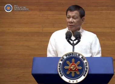 President Rodrigo Duterte starts his second State of the Nation Address before Congress