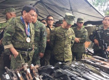President Duterte visits Camp Ranao in Marawi on Thursday. /courtesy Armed Forces/
