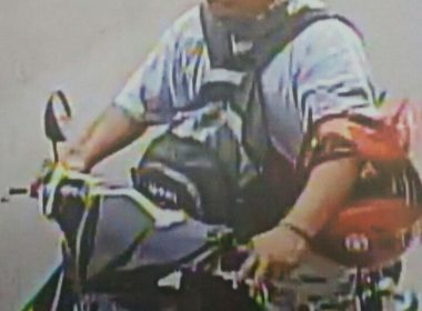 Ang gunman na pumatay sa isang pulis sa Biñan noong Miyerkules. Eagle News Service