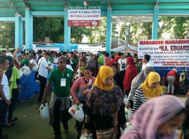 A scene during the Iglesia Ni Cristo's Lingap sa Mamamayan (AId to Humanity) in one of the evacuation centers for displaced Marawi residents in Iligan City held on July 11, 2017  (Contributed photo)