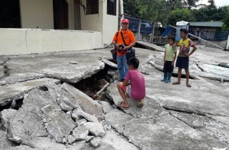 A scene in the aftermath of the 6.5-magnitude earthquake in July. /Eagle News Service/