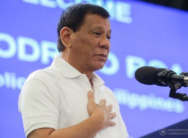 President Rodrigo Roa Duterte, in his speech during the 11th Ambassadors' Tour Philippine Reception at the SMX Convention Center in Davao City on July 14, 2017, thanks the delegates for their role in the advancement of Filipino-American communities. SIMEON CELI JR./PRESIDENTIAL PHOTO