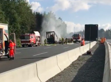 Thirty-one people were injured, some seriously, when a coach burst into flames after colliding with a lorry on a motorway in the German state of Bavaria on Monday (July 3), police said.