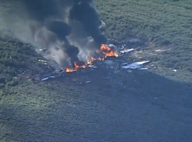 Several people are feared dead after an Army C-130 plane crashed in LeFlore County, Mississippi on Monday (May 10), NBC reported. Photo grabbed from Reuters video file.