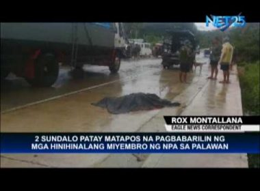 Alleged NPA rebels kill 2 Marines in northern Palawan town