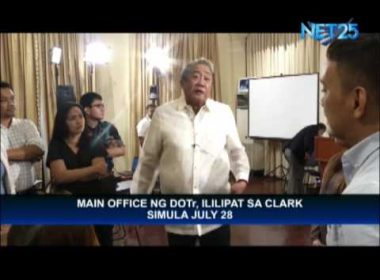 DOTr main office to be transferred to Clark by July 28