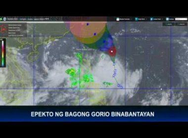 Epekto ng bagyong Gorio, mahigpit na binabantayan
