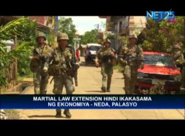 Martial law extension, not bad for economy, says NEDA Chief