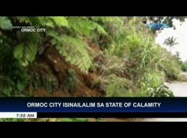 Ormoc City placed under state of calamity