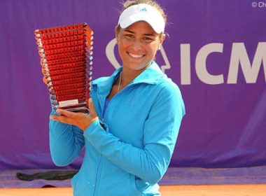 Puig's first WTA title at the Internationaux de Strasbourg (COURTESY: wtatennis.com)