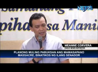 Trillanes opposes reopening of Mamasapano massacre probe by Senate