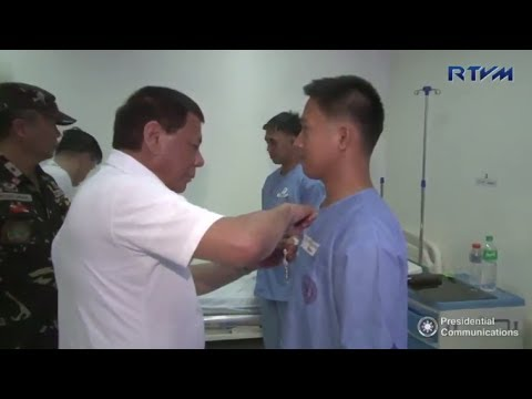 WATCH: President Duterte visits wounded-in-action soldiers from 21IB of PHL Army