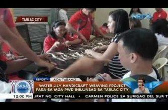 Water lily weaving project, inilunsad sa Tarlac City