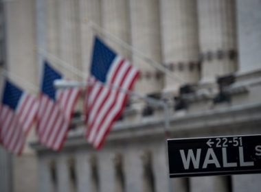 (FILES) This file photo taken on February 16, 2017 shows the New York Stock Exchange in New York.   Wall Street stocks opened just barely into positive territory on May 24, 2017, following a four-day winning streak, while investors awaited the minutes from the US central bank's last meeting. The Federal Reserve later Wednesday is due to publish minutes from of its policy discussion earlier this month, possibly offering clues about futher interest rate increases this year, and how it will sell off its securities holdings.  / AFP PHOTO / Bryan R. Smith