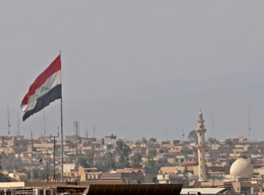 File Photo: Flag of Iraq.