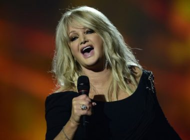 """(FILES) This file photo taken on May 18, 2013 shows Britain's Bonnie Tyler performing during the finals of the 2013 Eurovision Song Contest. It's a pop culture moment for the ages: crooner Bonnie Tyler will sing her mega-hit """"Total Eclipse of the Heart"""" -- on a cruise ship -- before an actual total eclipse of the sun. """"It's perfect,"""" proclaimed a headline on BuzzFeed.  The 66-year-old British singer will perform her iconic 1983 power ballad on the Royal Caribbean ship Oasis of the Seas prior to the August 21, 2017 eclipse, which will be visible across the United States, the company said in a statement.  / AFP PHOTO / John MACDOUGALL"""