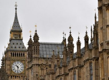 Elizabeth Tower (Big Ben) is seen at the Houses of Parliament in London on August 21, 2017 ahead of the final chimes of the famous bell before renovation works begin. Britain's Big Ben bell fell silent on August 21 for four years of renovation work, with its final 12 bongs ringing for midday in front of a crowd of over a thousand people. The repair work on the landmark looming over the Houses of Parliament in Westminster has sparked protests including from Prime Minister Theresa May.  / AFP PHOTO / BEN STANSALL