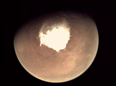 "(FILES) This file handout picture released on October 16, 2016 by the European Space Agency (ESA) shows planet Mars as seen by the webcam on ESA's Mars Express orbiter, as another mission, ExoMars, is about to reach the Red Planet. Mars is buffeted by turbulent snowstorms that occur only at night, according to a study released on August 21, 2017, that revises our understanding of Red Planet weather. Up to now, it was thought that snow falling from low-lying Martian clouds settled slowly and sparsely to the ground in a environment bereft of violent winds. The new findings, reported in the journal Nature Geoscience, suggest that ice-water particles swirling in a storm hit the ground within minutes, rather than descending gently for hours.  / AFP PHOTO / EUROPEAN SPACE AGENCY / HO / RESTRICTED TO EDITORIAL USE - MANDATORY CREDIT ""AFP PHOTO / ESA "" - NO MARKETING - NO ADVERTISING CAMPAIGNS - DISTRIBUTED AS A SERVICE TO CLIENTS"