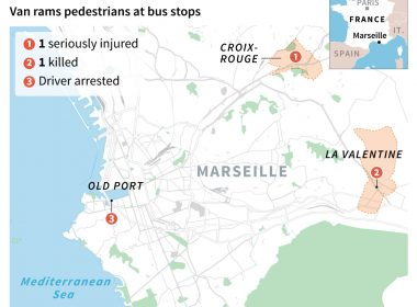 One dead after van hits people at Marseille bus stops