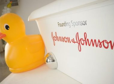 CULVER CITY, CA - APRIL 24: Johnson & Johnson signage at Safe Kids Day 2016 presented by Nationwide at Smashbox Studios on April 24, 2016 in Los Angeles, California.   Jason Kempin/Getty Images for Safe Kids Worldwide/AFP