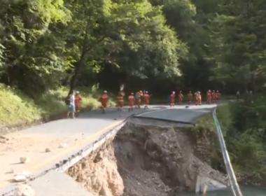 Earthquake causes mountain collapse, road destruction inside Jiuzhaigou Valley