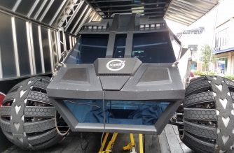 Mars Rover concept vehicle tours eastern seaboard of the U.S.